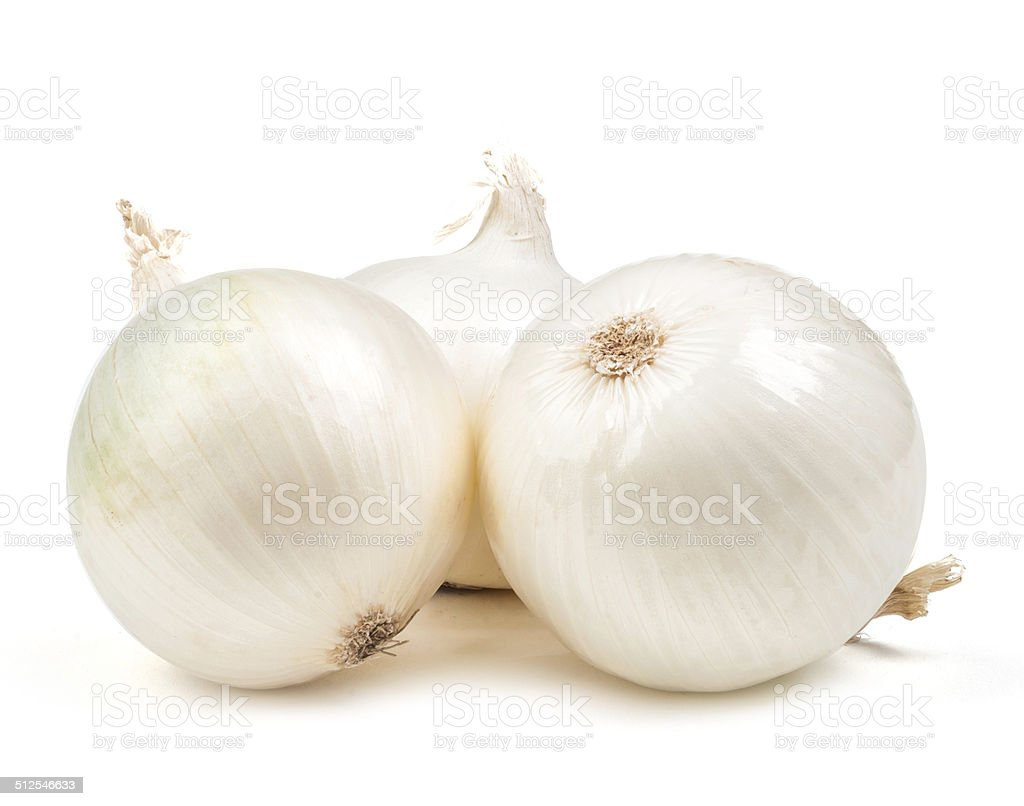 white onion salad isolated stock photo