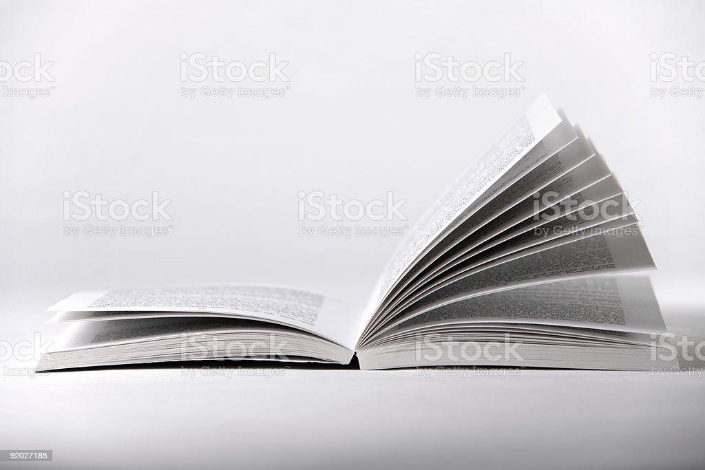 White Open Book royalty-free stock photo