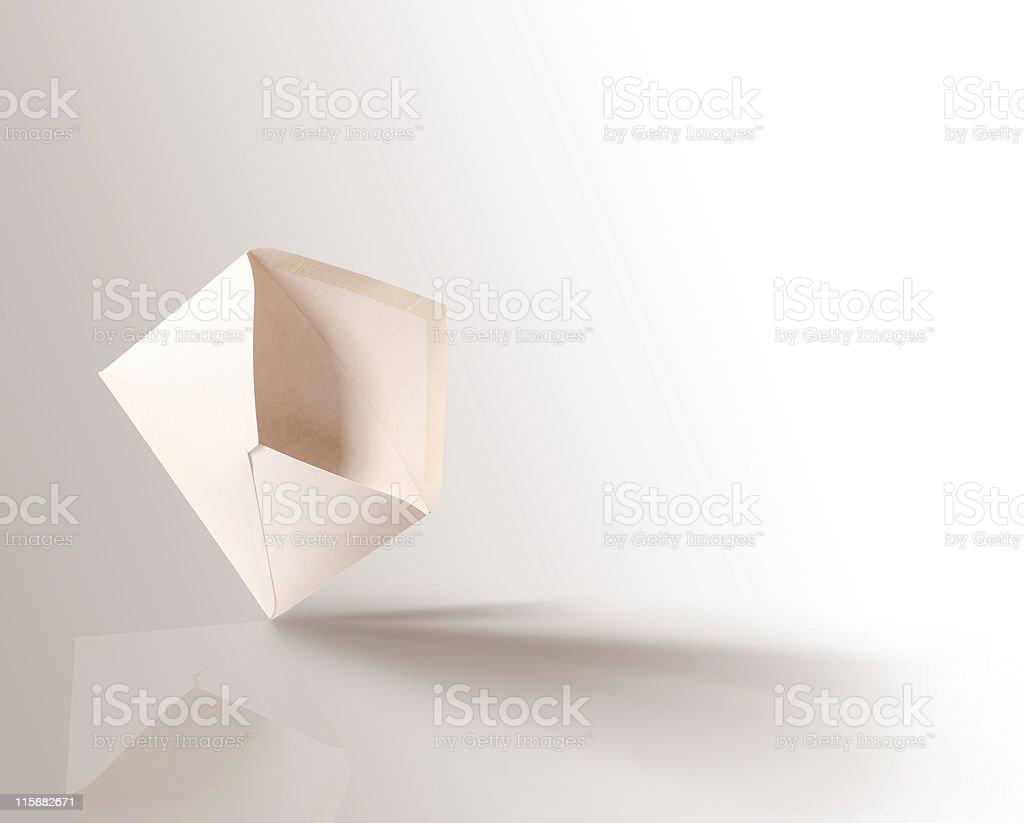 White open envelope royalty-free stock photo