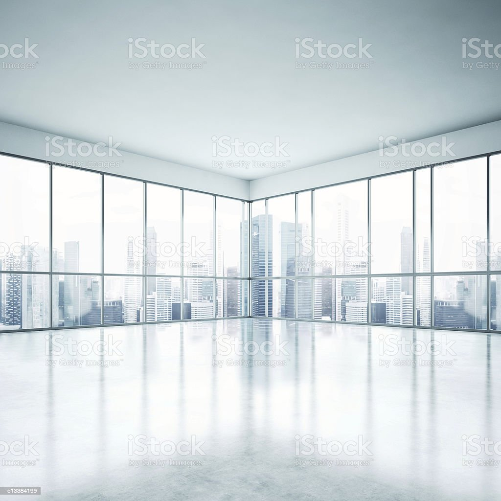 White open plan office stock photo