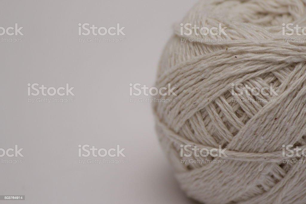 white organic floss stock photo