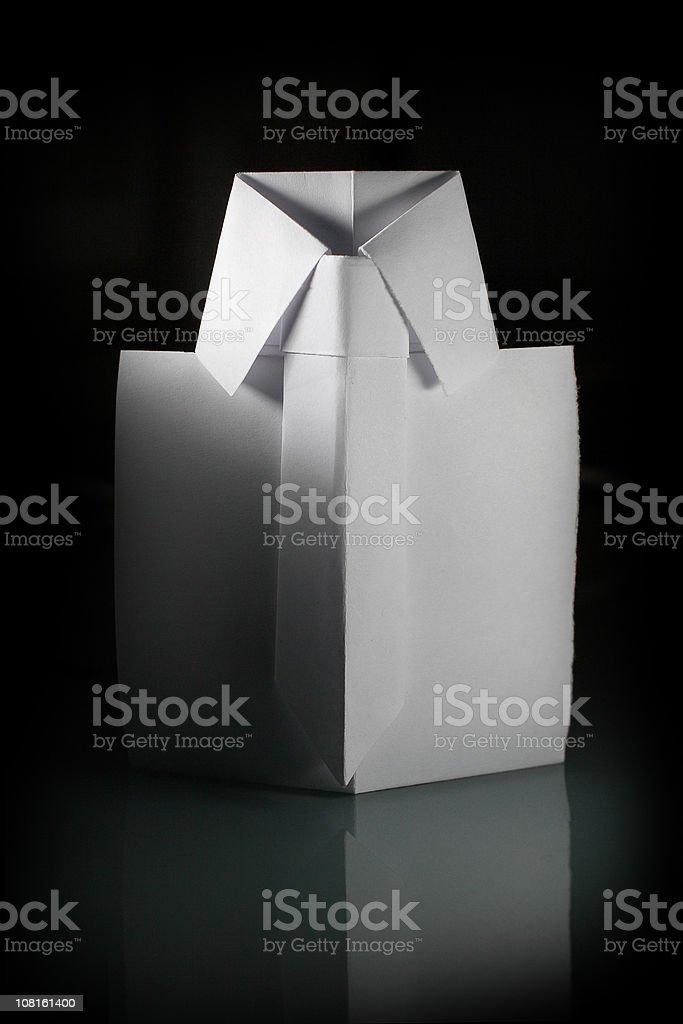 White origami shirt. stock photo