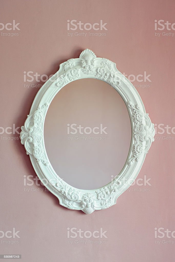 white oval frame stock photo