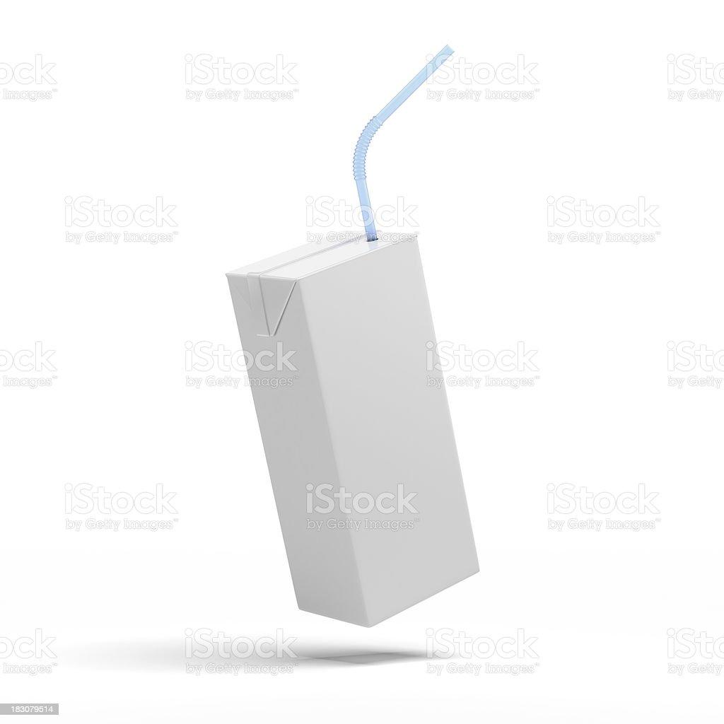 White packaging, box of juice, yogurt, milk stock photo