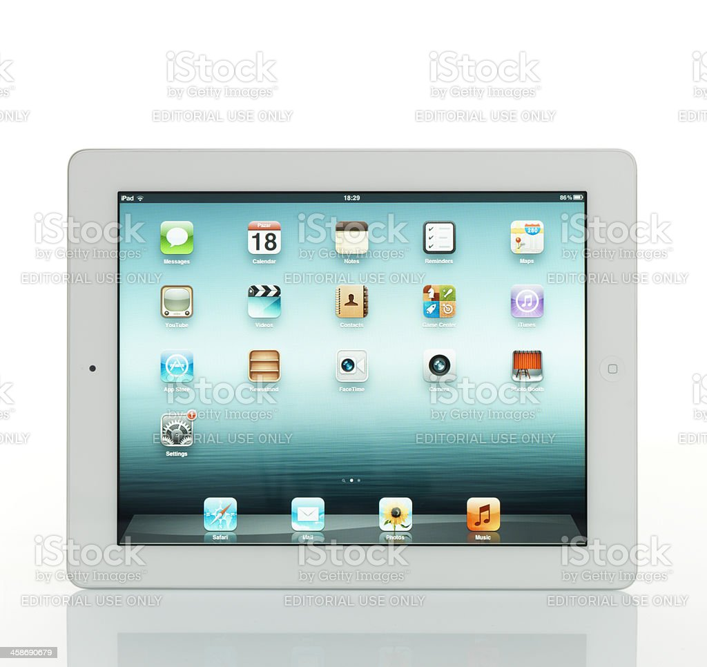 White İpad 2 From Apple stock photo