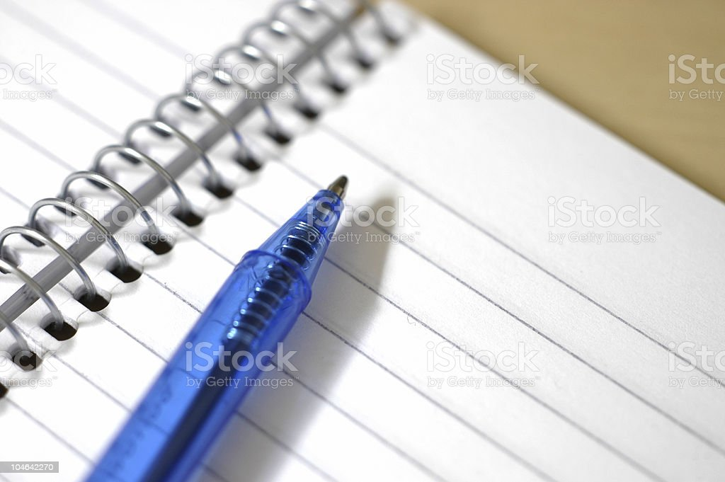 White pad and pen royalty-free stock photo