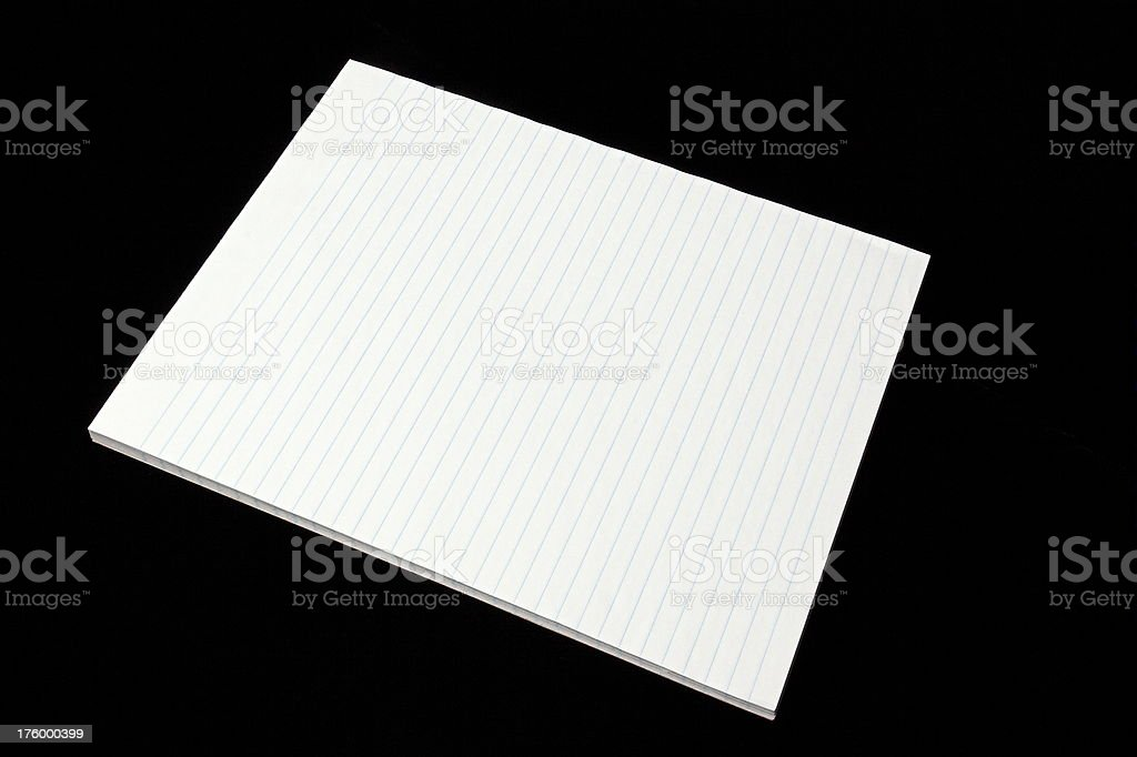 White Pad of Paper stock photo