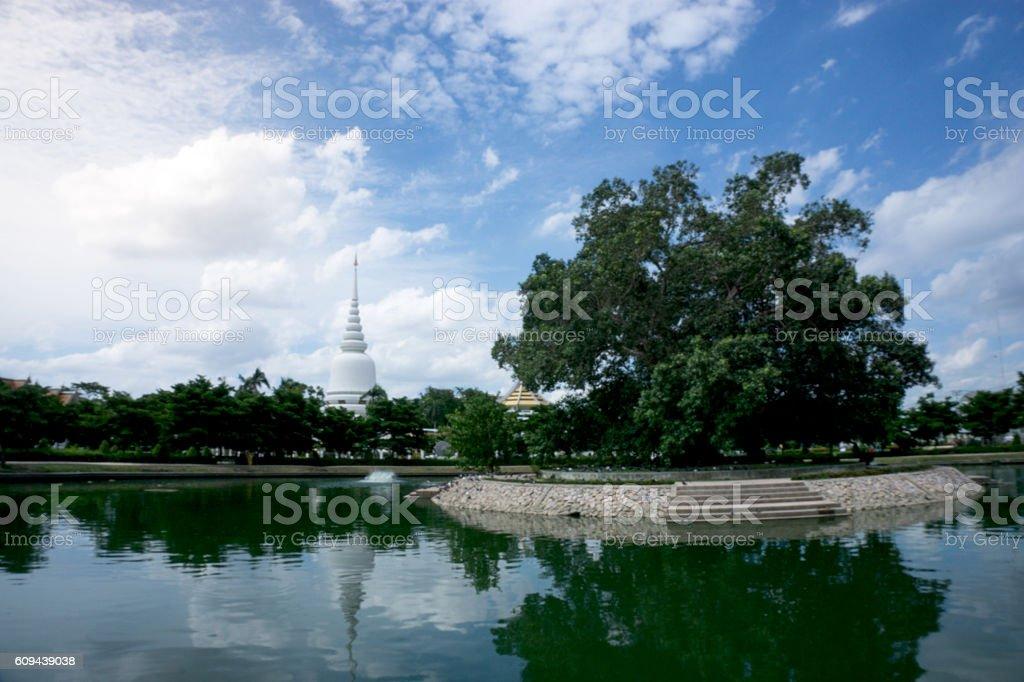 White pagoda of bangk stock photo