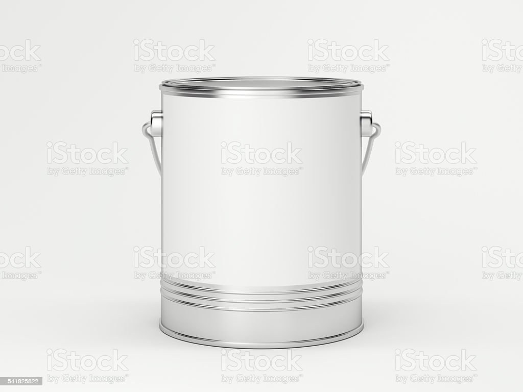 White paint can. 3d rendering stock photo