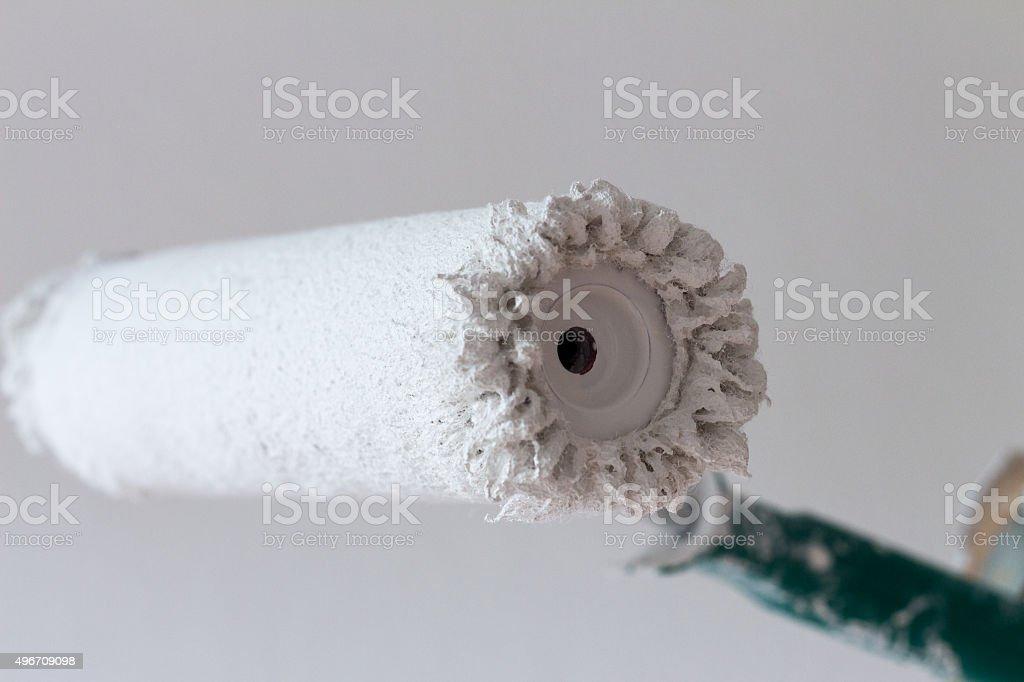 White Paint Roller stock photo