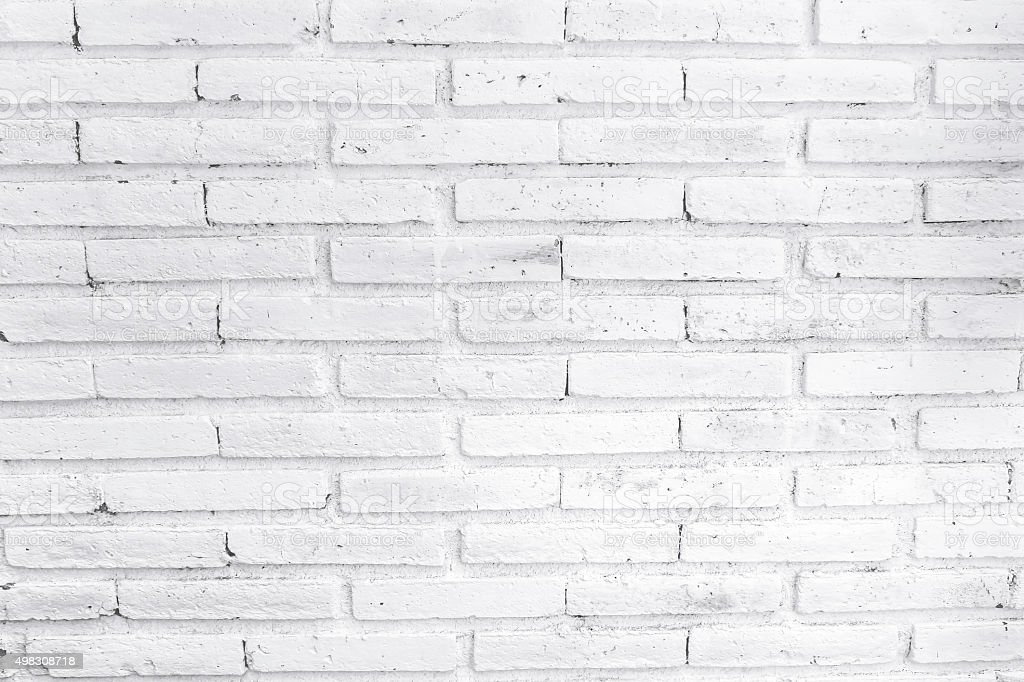 White Painted Brick Wall Stock Photo 498308718 Istock