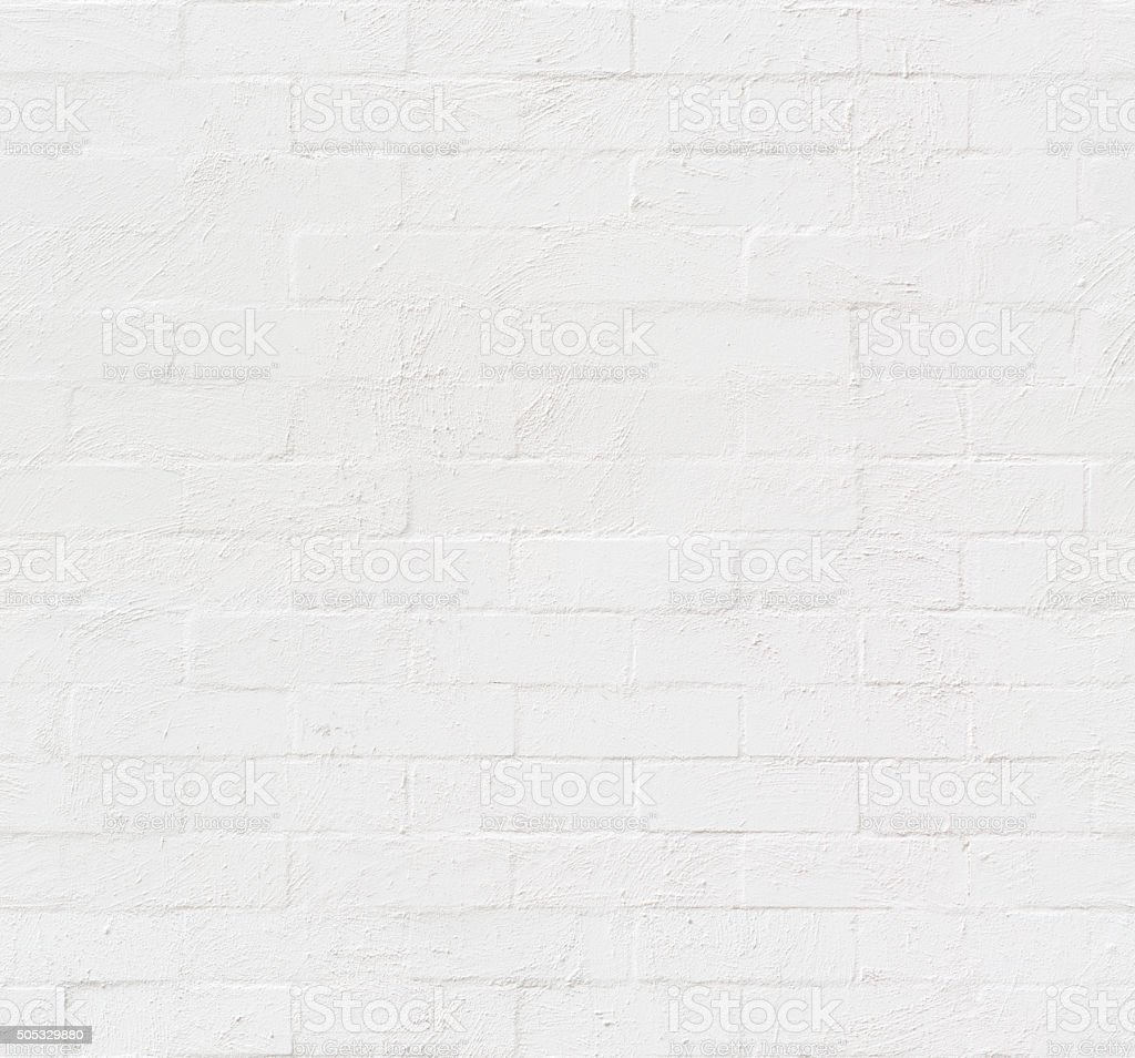 White Painted Bricks Seamless Texture stock photo