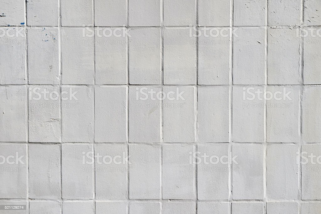White painted ceramic tile wall royalty-free stock photo