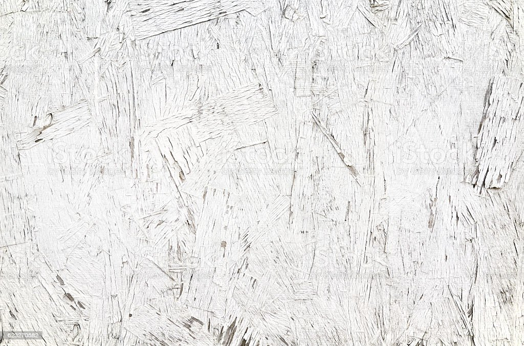 White painted old plywood plank texture background stock photo