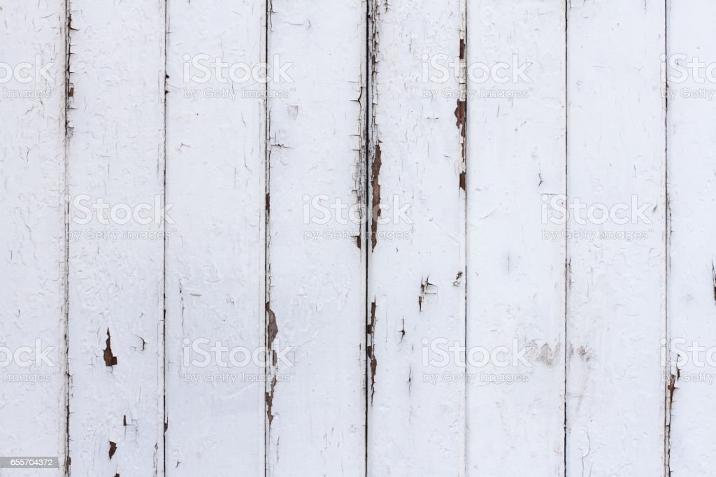 White Painted Shabby Wood Texture Background – Foto