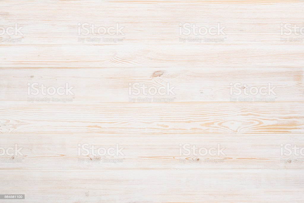 White, painted, wooden floor stock photo