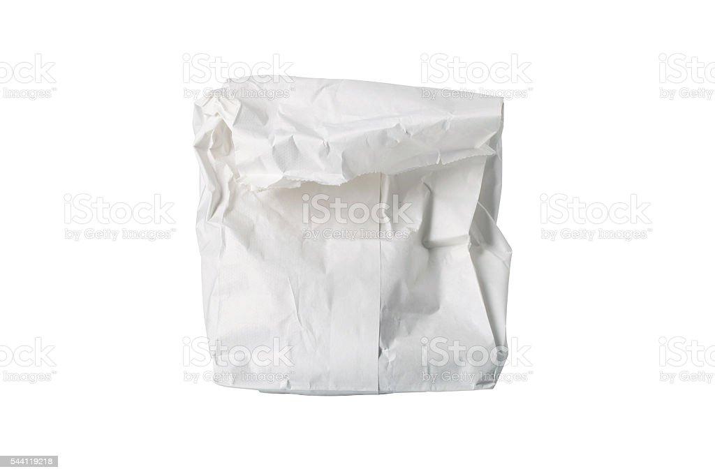 White Paper Bag Folded stock photo
