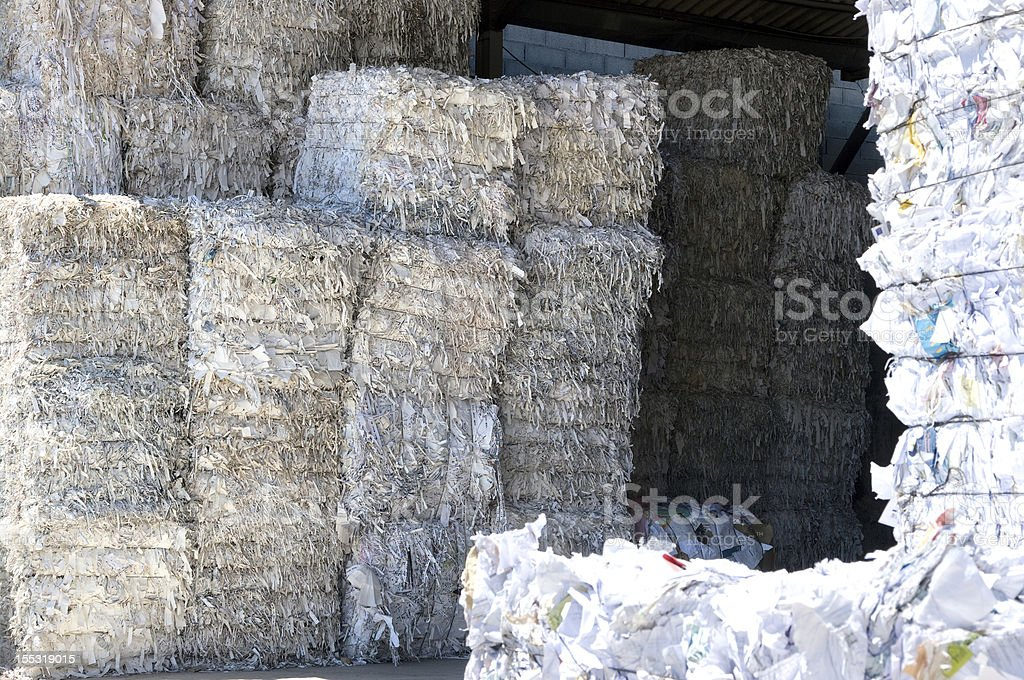 White paper bales royalty-free stock photo