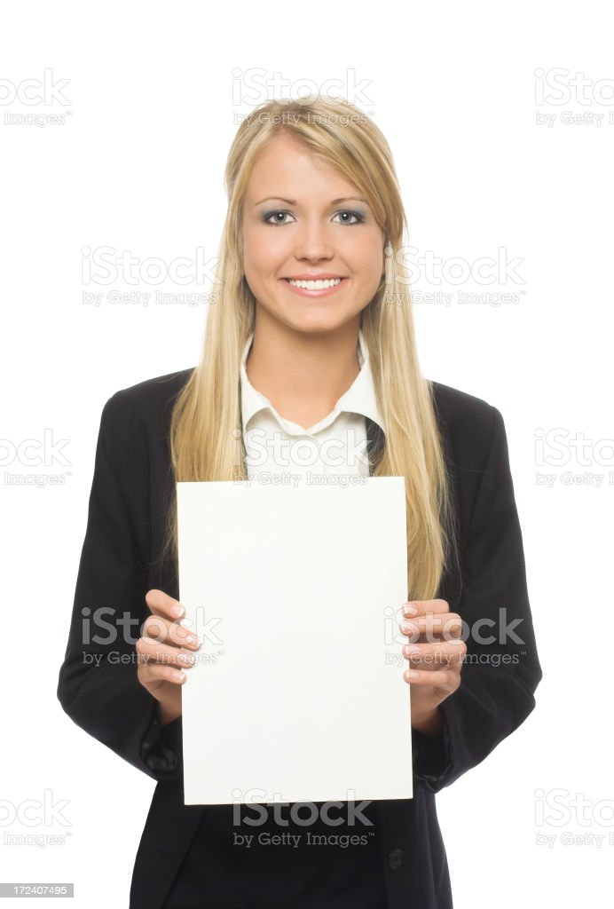White paper business woman royalty-free stock photo
