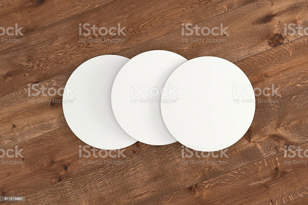 White paper coaster stock photo