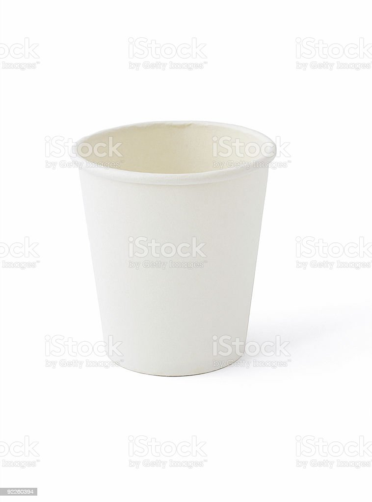 White paper cup royalty-free stock photo