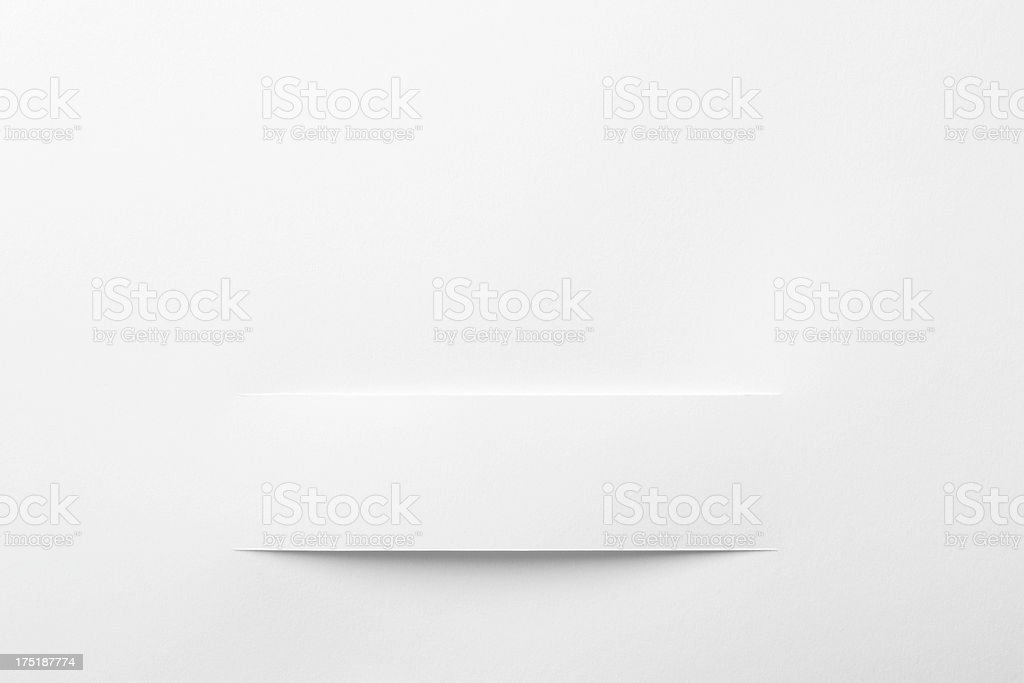 White paper cut royalty-free stock photo