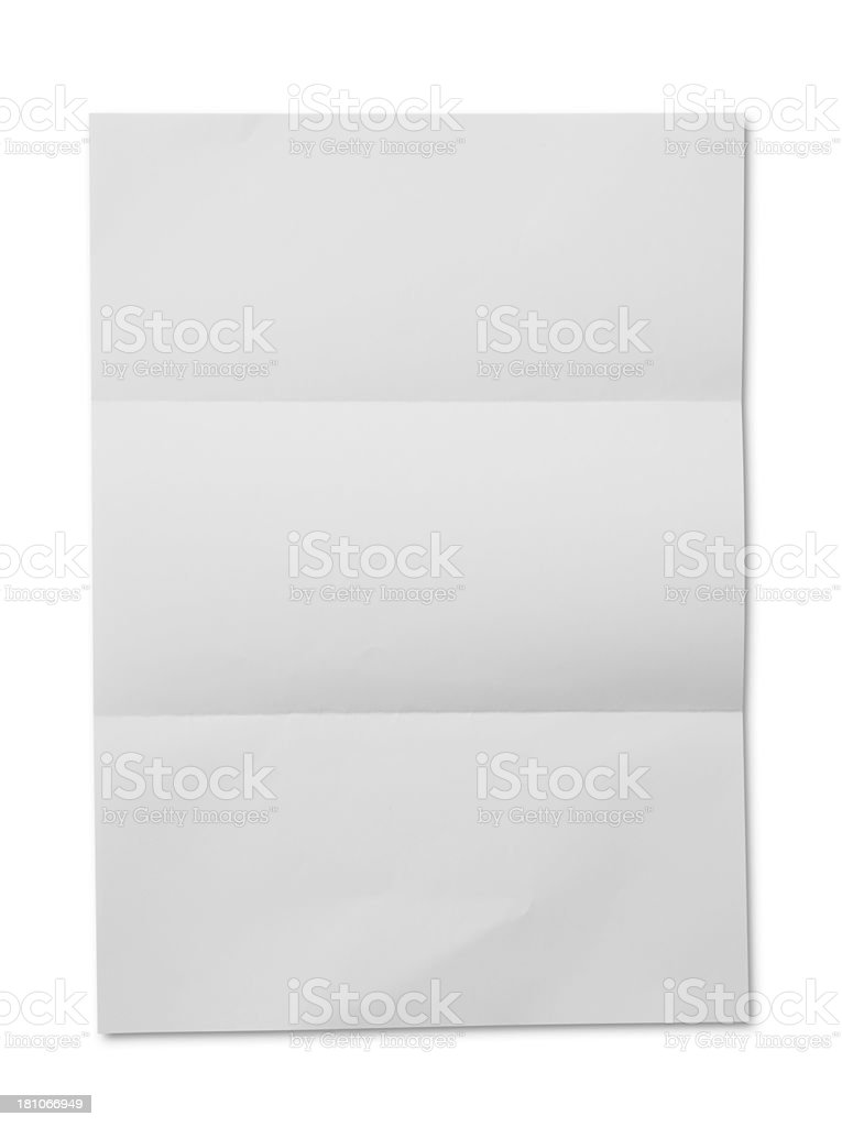 White paper folded stock photo
