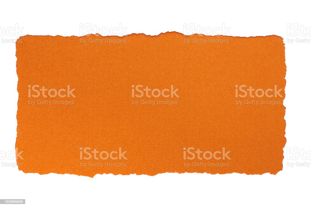 White paper frame on orange background royalty-free stock photo