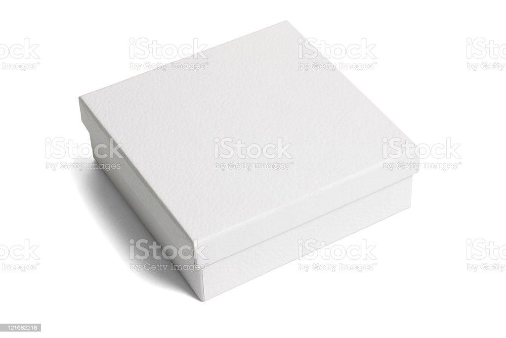 White paper gift box stock photo
