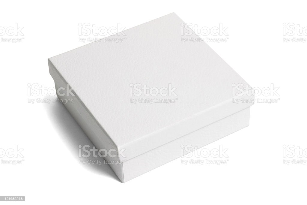 White paper gift box stock photo