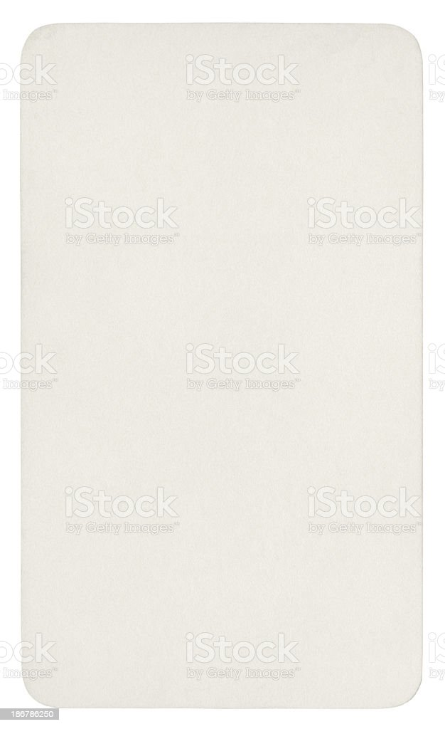 White paper isolated (clipping path included) royalty-free stock photo