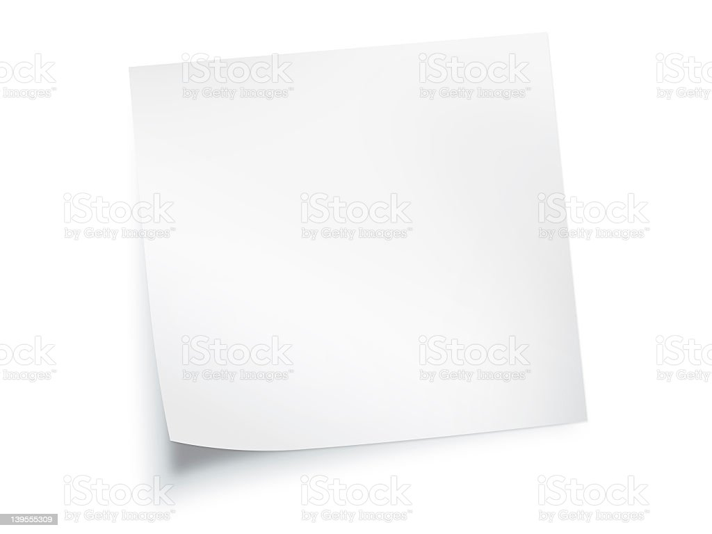white paper note background stock photo