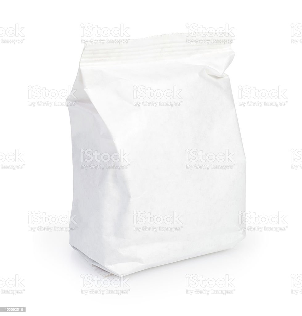 white Paper pack stock photo