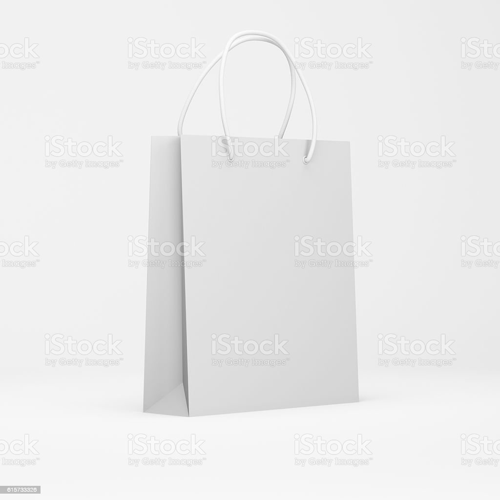 White paper package stock photo