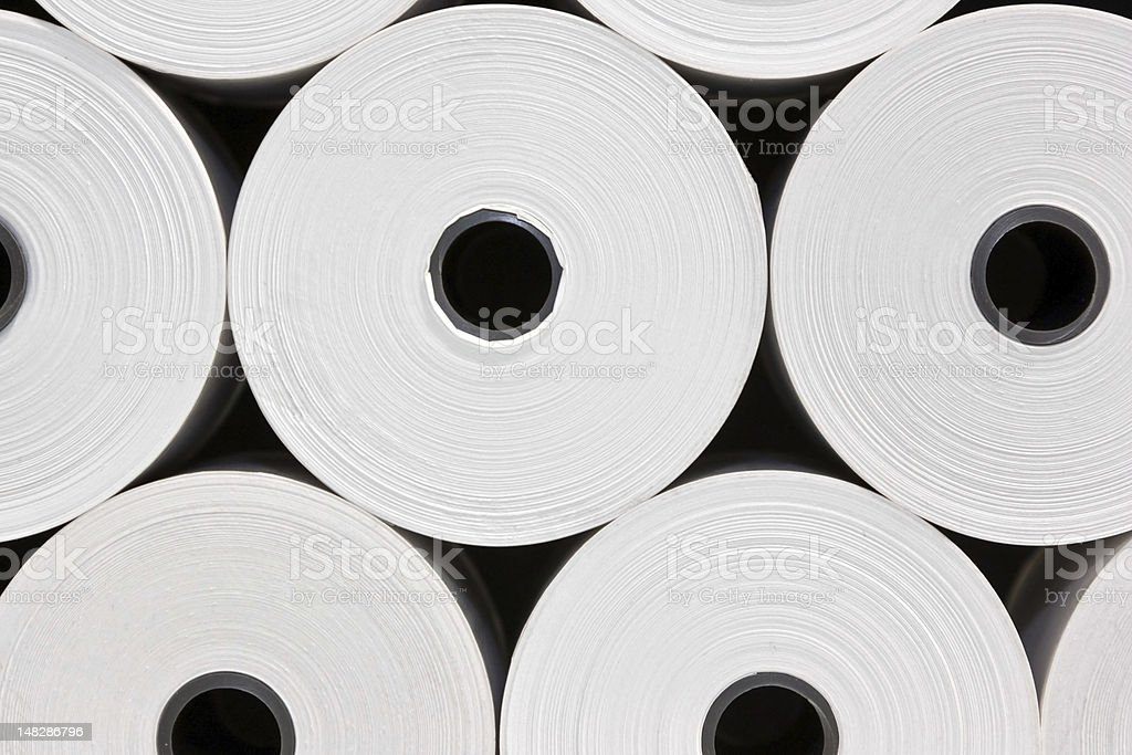 White Paper Rolls royalty-free stock photo