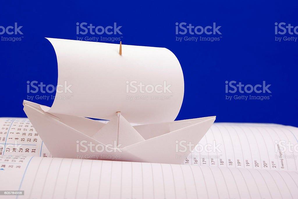 White paper ship royalty-free stock photo