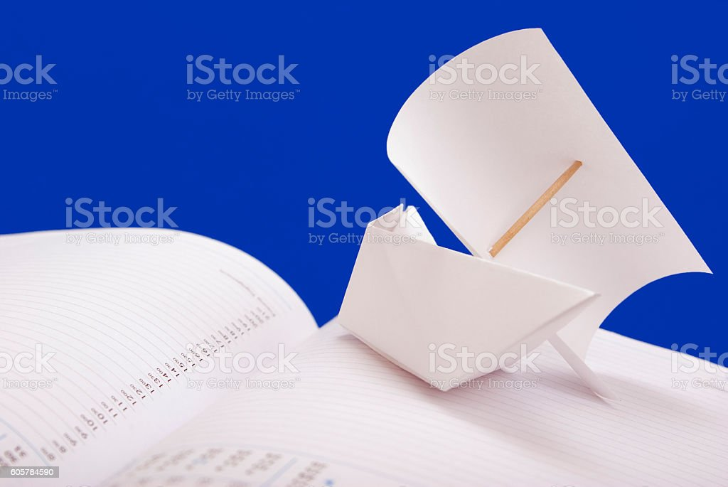 White paper ship royalty-free stock photo
