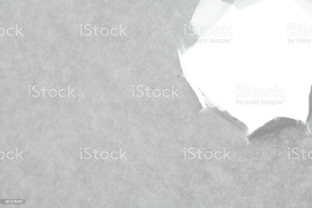 White Paper Torn Hole stock photo