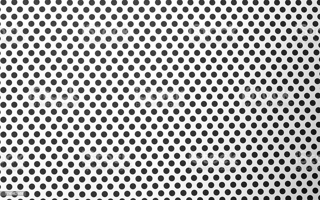 White paper with black polka dots. XXXL size. royalty-free stock photo