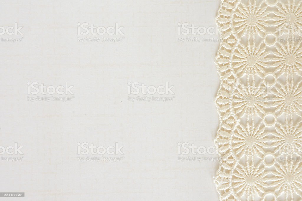 White Paper with Lace stock photo