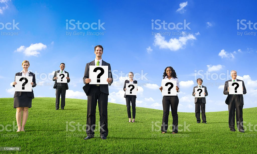 white paper with question mark royalty-free stock photo
