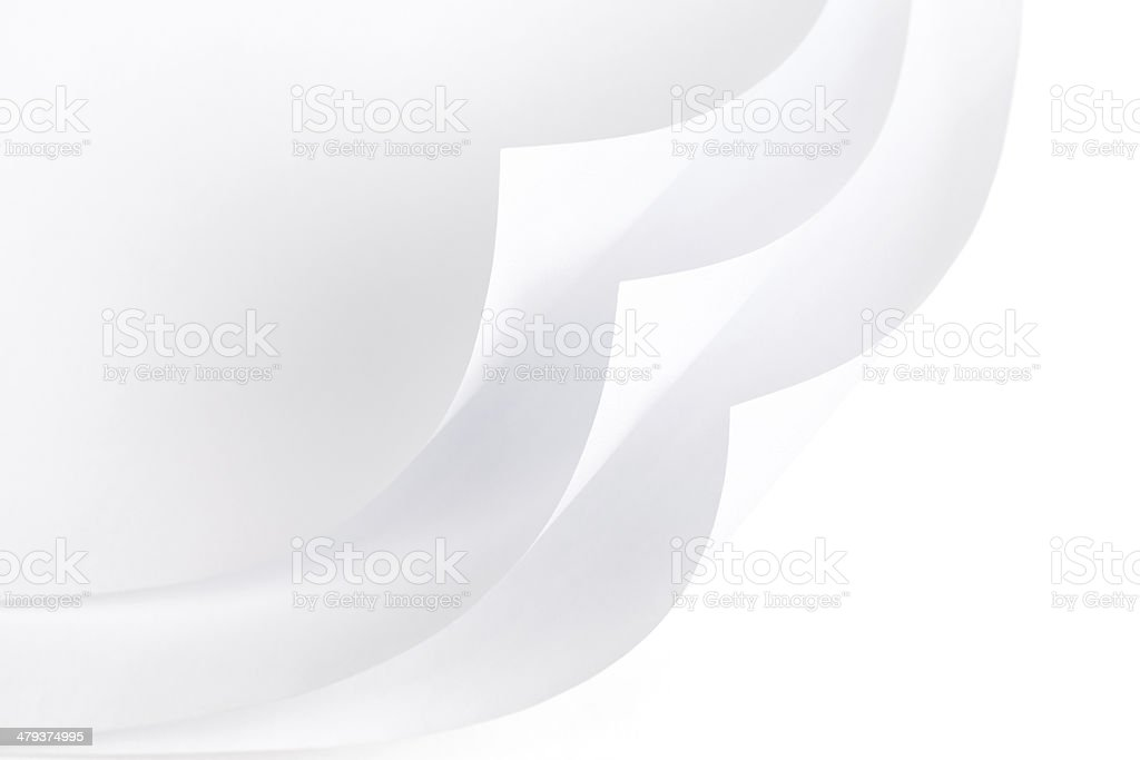 White Papers with Curled Corner royalty-free stock photo