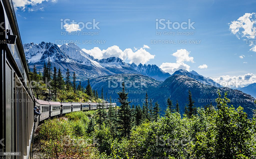 White Pass and Yukon Route Railroad stock photo