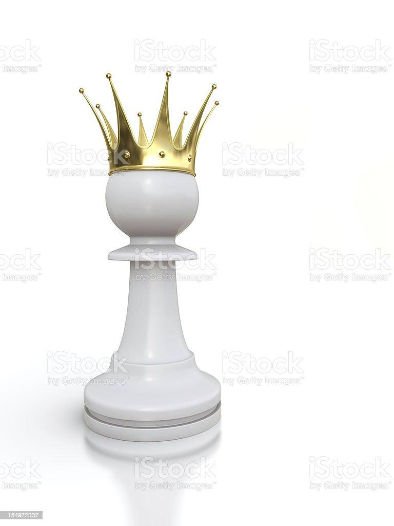 White pawn king stock photo