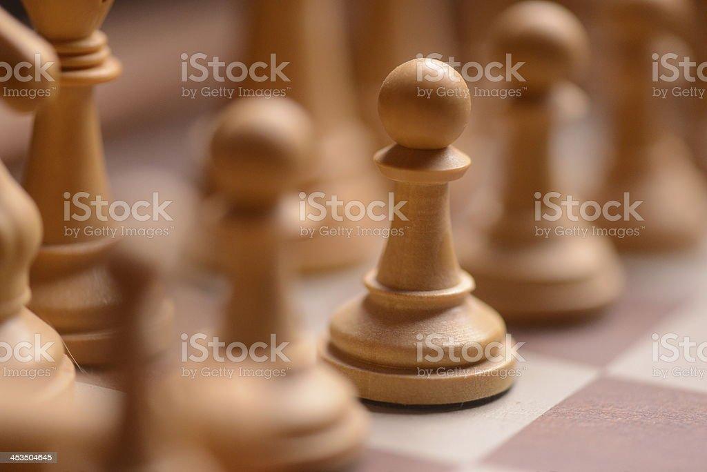 White pawns royalty-free stock photo