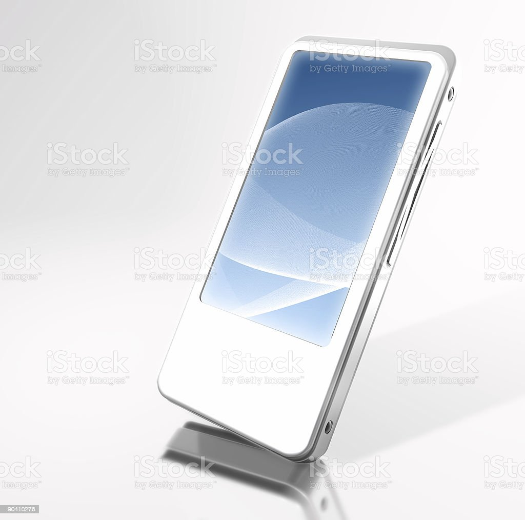 White PDA stock photo