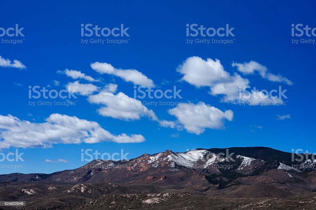 White Peaks and Blue Sky stock photo