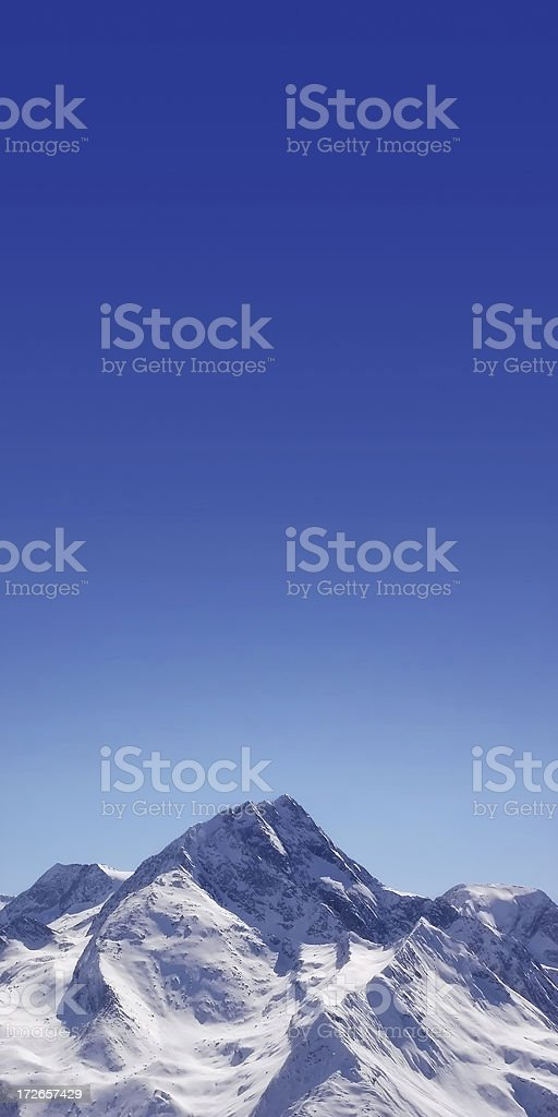 White Peaks under Blue Sky royalty-free stock photo