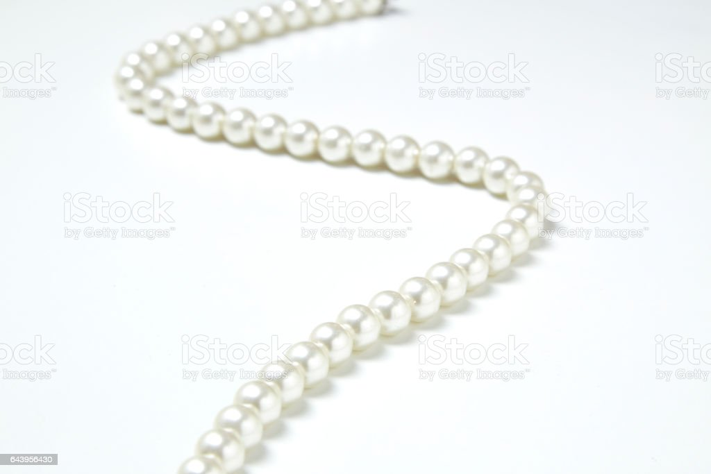 White pearl necklace stock photo