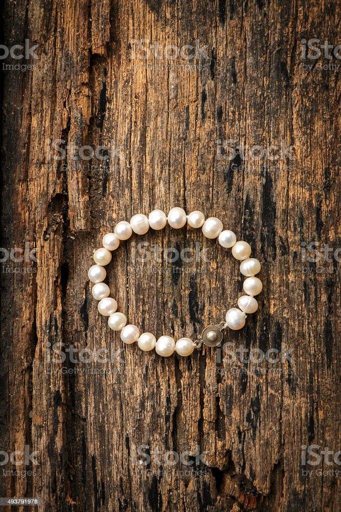 White pearl stock photo
